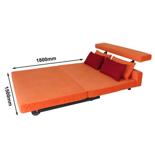 SMOOCH New Yorker Queen Sofa Bed Orange