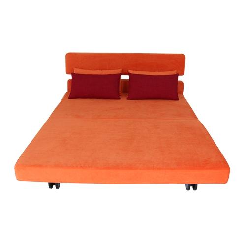 SMOOCH New Yorker Queen Sofa Bed Orange ...