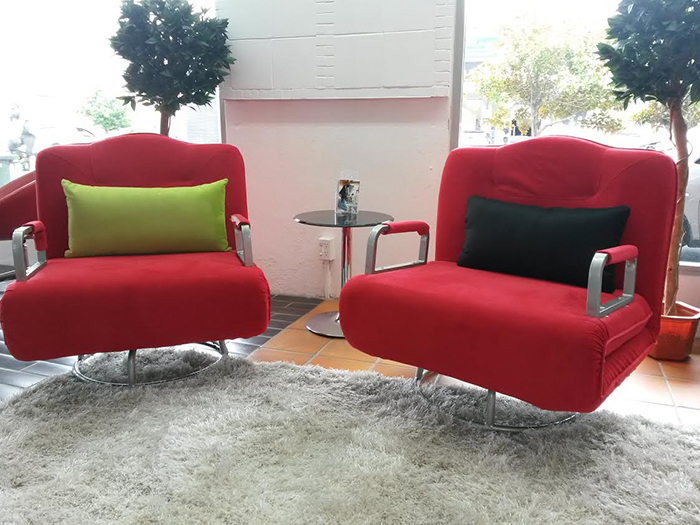 Get 2 X Smooch Executive Single Sofa Bed As A Luxury Swivel Chair With Head Rest